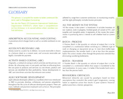 Glossary of Throughput Accounting Techniques book